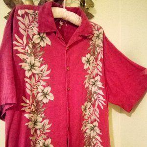 Island Republic Button Down Hawaiian Aloha Shirt